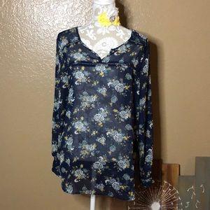 XL Mossimo Sheer Dress Top